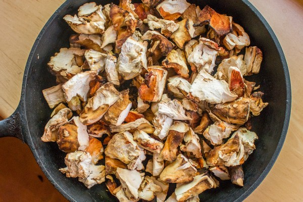 Roasted chicken of the woods