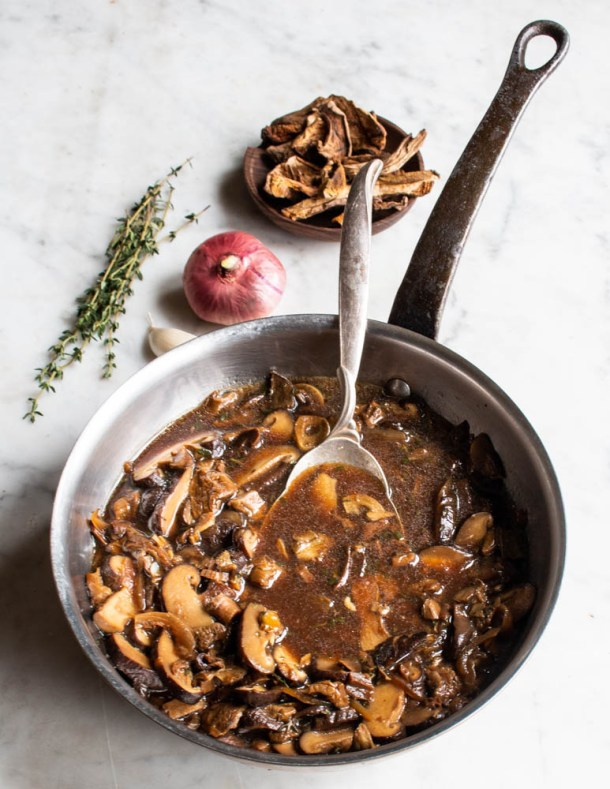 Wild Mushroom Ragu with Dried Boletes Recipe