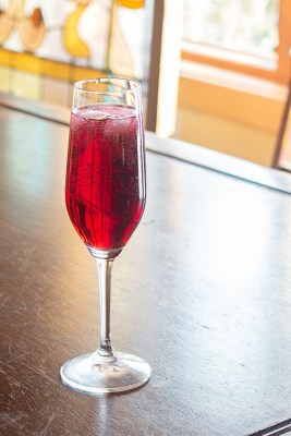 Black raspberry cassis Kir Royale recipe