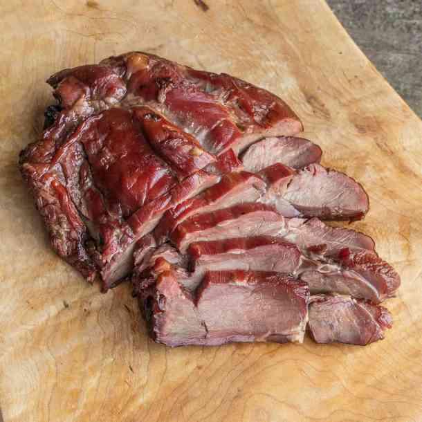 Smoked venison or deer football roast
