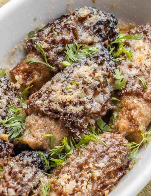 Crab Stuffed Dried Morel Mushrooms Recipe_-9