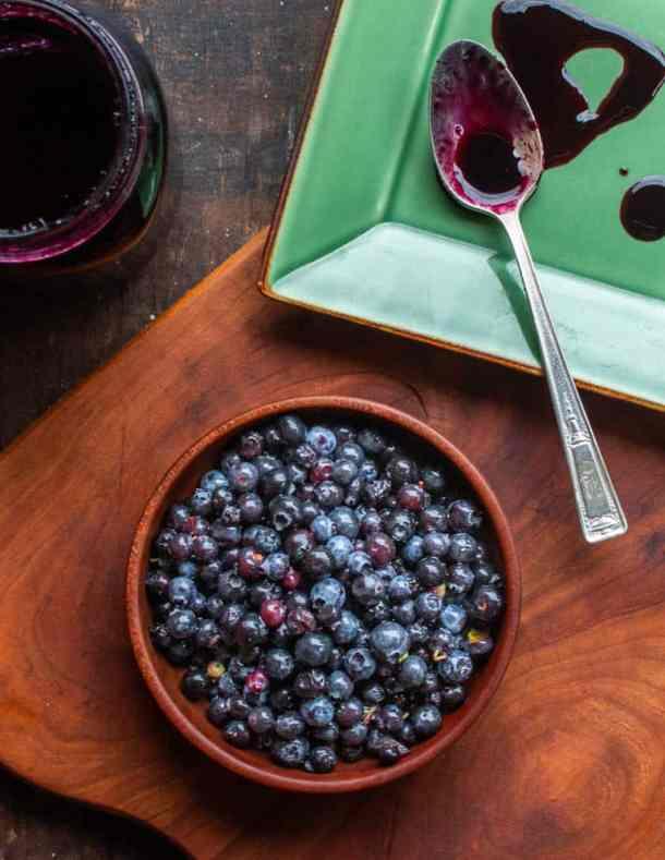Wild blueberry juice reduction or molassses recipe