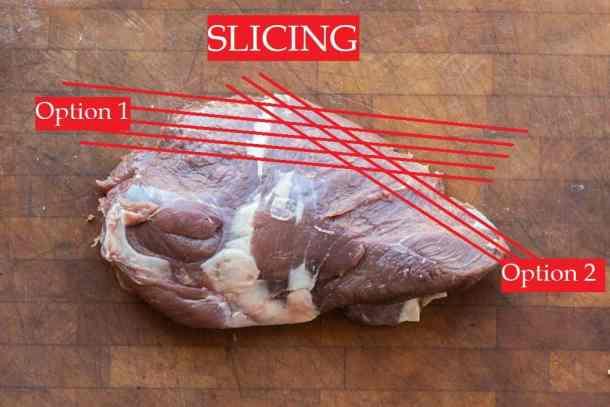 How to slice a venison tri-tip steak