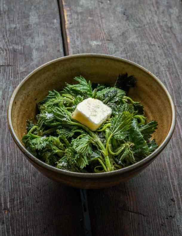 Steamed nettle recipe