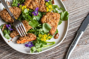 Sesame Baked Chicken of the Woods Mushrooms Recipe