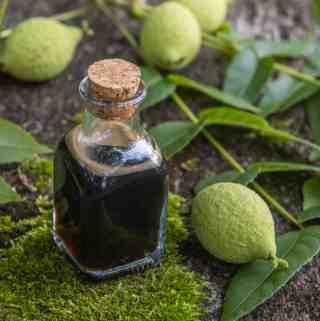 Green black walnut honey