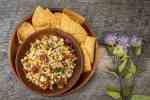 Corn relish with wild oregano and green coriander