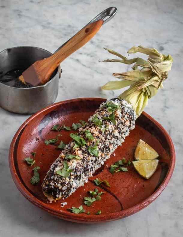 Huitlacoche / corn mushroom / corn truffle elotes recipe