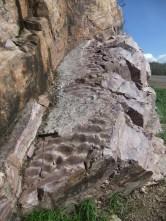 Preserved ripples in Pre-Cambrian quartzite near Baraboo, Wisconsin