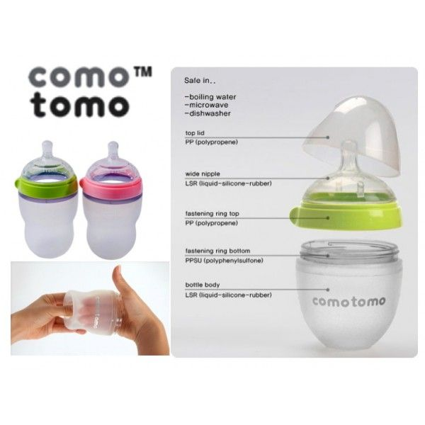 BABY BOTTLE-FEEDING SUPPLIES - Comotomo Baby Bottle