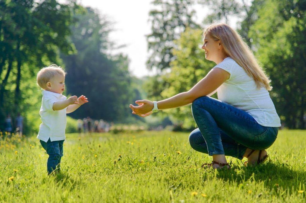 Teaching babies to walk