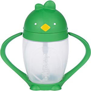 Lollaland Lollacup, Green | 10 oz Straw Sippy Cup with Weighted Straw Made in USA