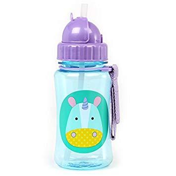 Skip Hop Zoo Straw Bottle, Holds 12 oz, Eureka Unicorn