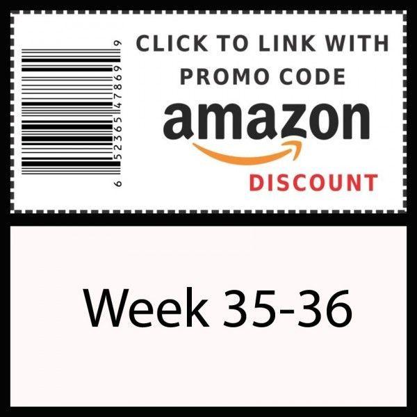 Amazon promo code Week 35-36