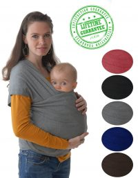 #1 Style Child Carrier. This 4-in-1 Grey Baby Wrap and...