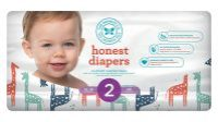 Honest Baby Diapers, Multi Colored Giraffes, Size 2, 160 Count