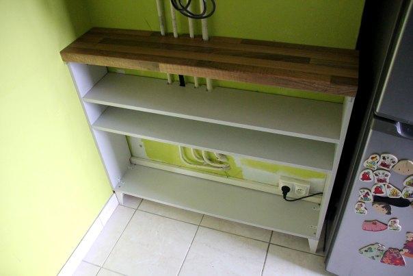 Build one set of shelves