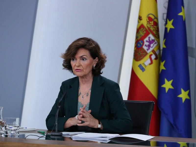 Carmen Calvo, positivo en coronavirus