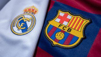 Escudos Real Madrid y Barcelona
