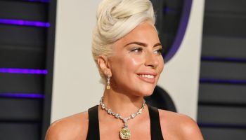Lady Gaga en la fiesta de Vanity Fair de los Oscars 2019. Foto: Jon Kopaloff (Getty Images)