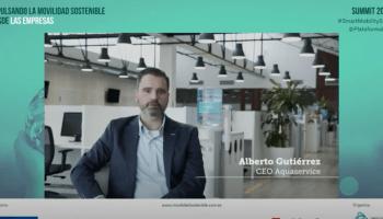 Alberto Guitiérrez, CEO de Aquaservice. Foto: Empresas por la Movilidad Sostenible