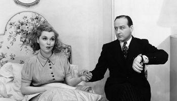 La actriz alemana Lilli Palmer y el actor inglés Cecil Parker en una escena de la obra Little Ladyship , presentada en el Strand Theatre de Londres (Inglaterra) en 1930. Foto: Hulton-Deutsch Collection/CORBIS/Corbis (Getty Images)