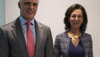 Andrea Orcel y Ana Botín. Banco Santander.