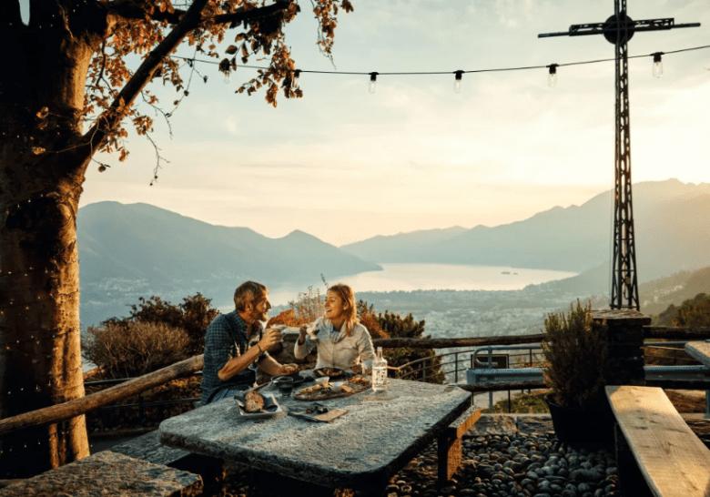 Grotto al Ritrovo, Brione sopra Minusio. Turismo Suiza