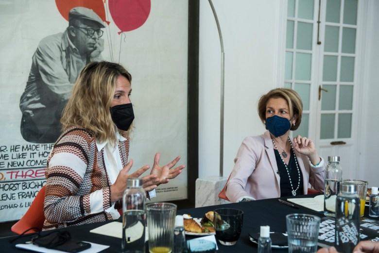 Benjumea y Visiedo durante el desayuno Forbes Talks. (Luis Camacho)