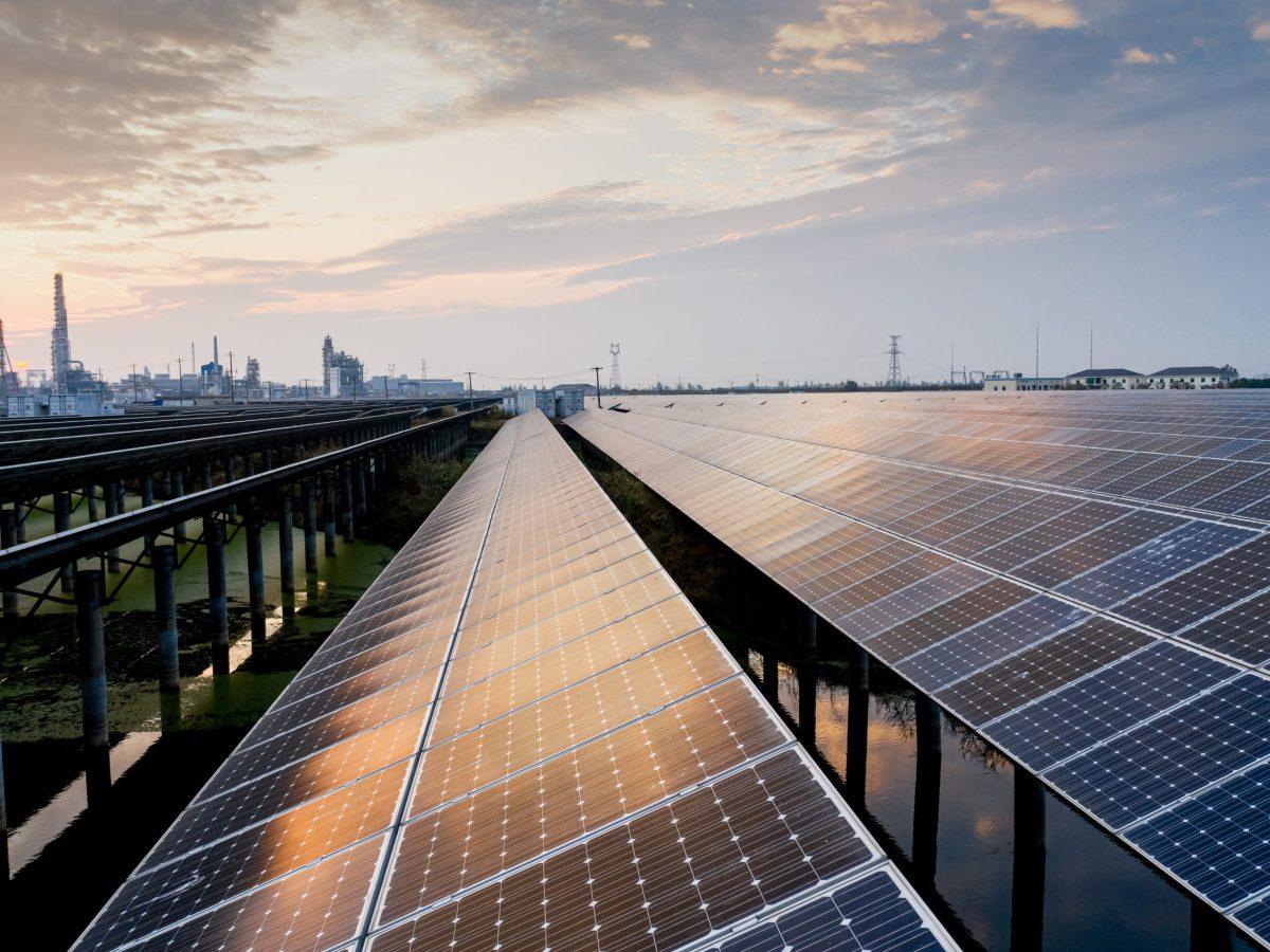 Planta solar.