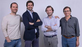 Parte del equipo de Ray Electric Motors: (de izq. a drch.) Gorka Lozano, Chief Marketing Officer; Íñigo Raventós, CEO; Juan Luque, Chief R&D Officer; y Josep Losantos, Chief Technology Officer – Mechanical.