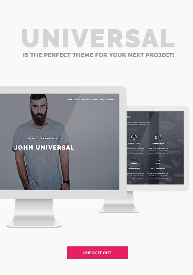 Universal - Smart Multi-Purpose WordPress Theme - 3
