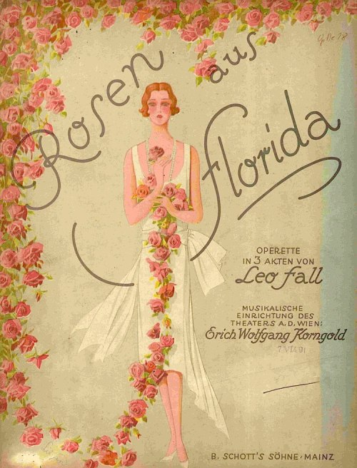 Poster for Leo Fall's Rosen aus Florida