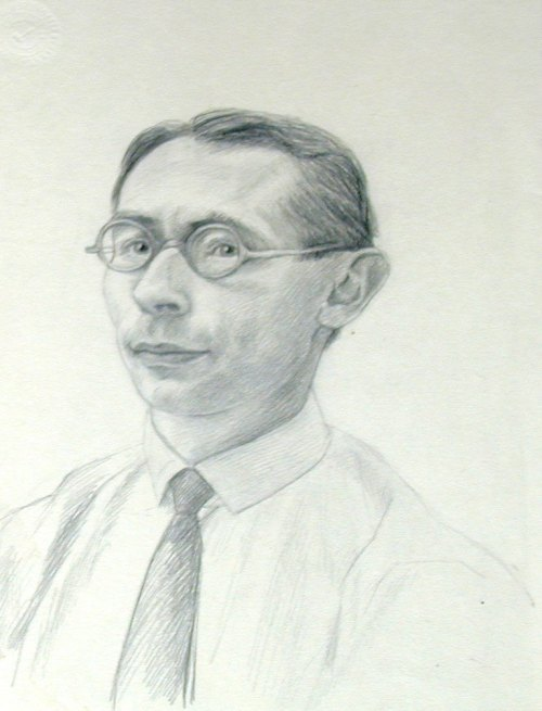 Hans Gál portrait by Arthur Paunzen