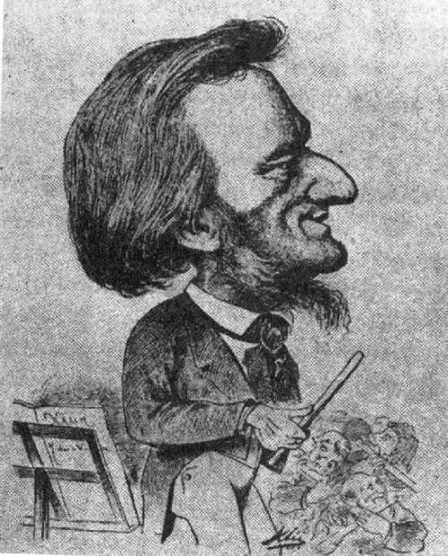 Caricature of Wagner with big nose