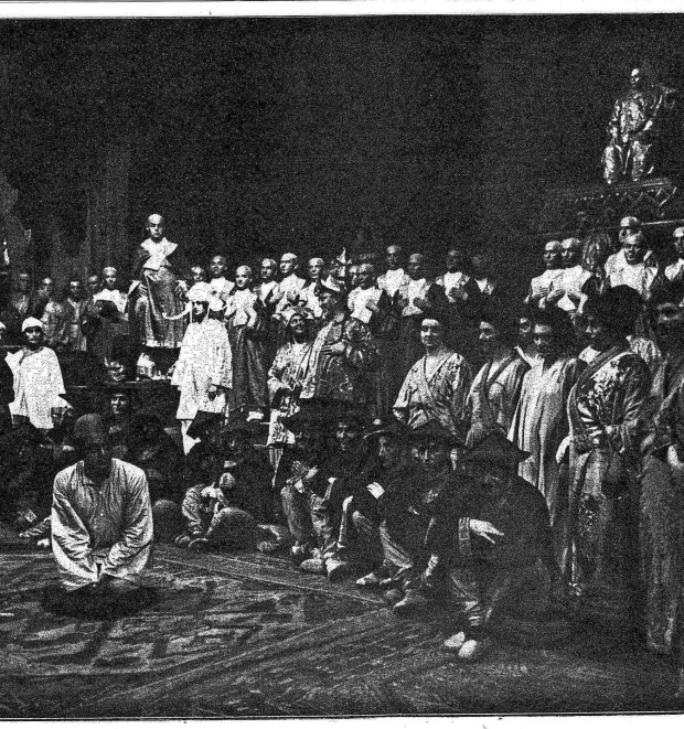 Scene from 'Dei Heilige Ente' at Berlin's Charlottenburg Opera