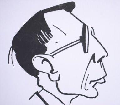 Caricature of Hans Gál