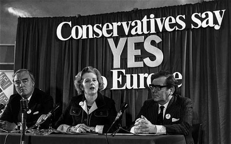 Margaret Thatcher in favour of the EU