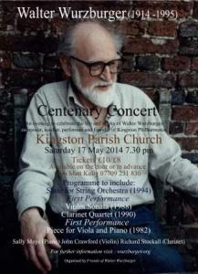 First centenary concert flyer