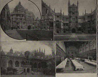 Postcard from Oxford in the 1930s
