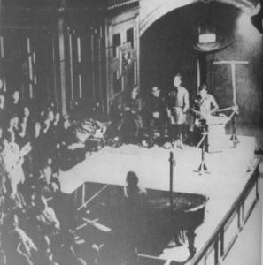 The premiere of 'Die Maßnahme' in Berlin's Old Philharmonie on Dec. 13, 1930