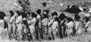 Inmates awaiting execution at concentration camps