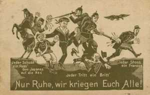 Propaganda postcard against the Entente