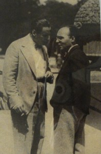 Toch speaking with Kurt Weill at the Baden-Baden Festival 1927 when both had one-act operas premiered