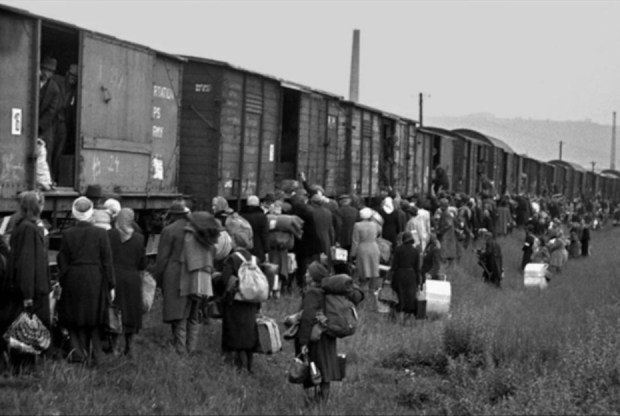 By 1945, it was German speaking Poles and Czechs who were herded into cattle cars and transported 10 days until they were dumped in Berlin or Vienna