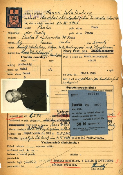 Winterberg passport application 1946