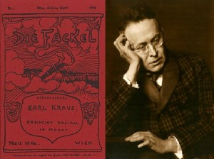Karl Kraus and his publication 'Die Fackel' in which he was also known to parody both Korngolds