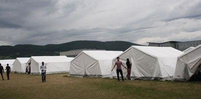 Tent-City in Traiskirchen Lower Austria