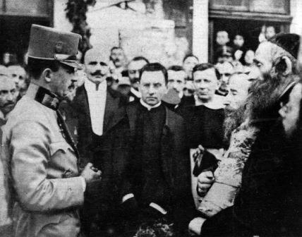 Franz Ferdinand greeting Jewish Leaders in Ternopol