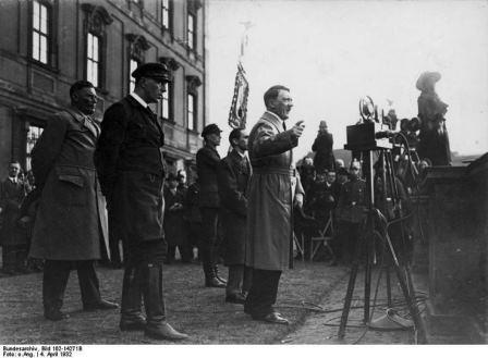 Hitler during election campaign in 1932